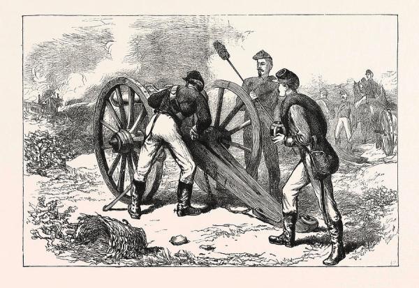 The Battle Of Chancellorsville, American Civil War Drawing ...