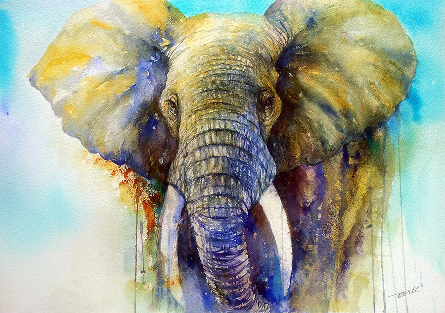The Gentle Giant Painting By Arti Chauhan