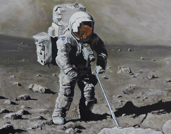 The Geologist- Harrison Schmitt. Apollo 17 Painting by ...
