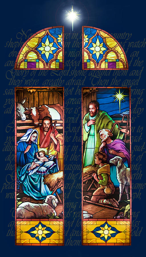 The Nativity Painting By Jean Hildebrant