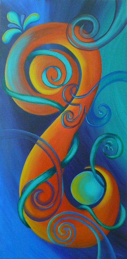 Tribal Koru Eternal Painting By Reina Cottier