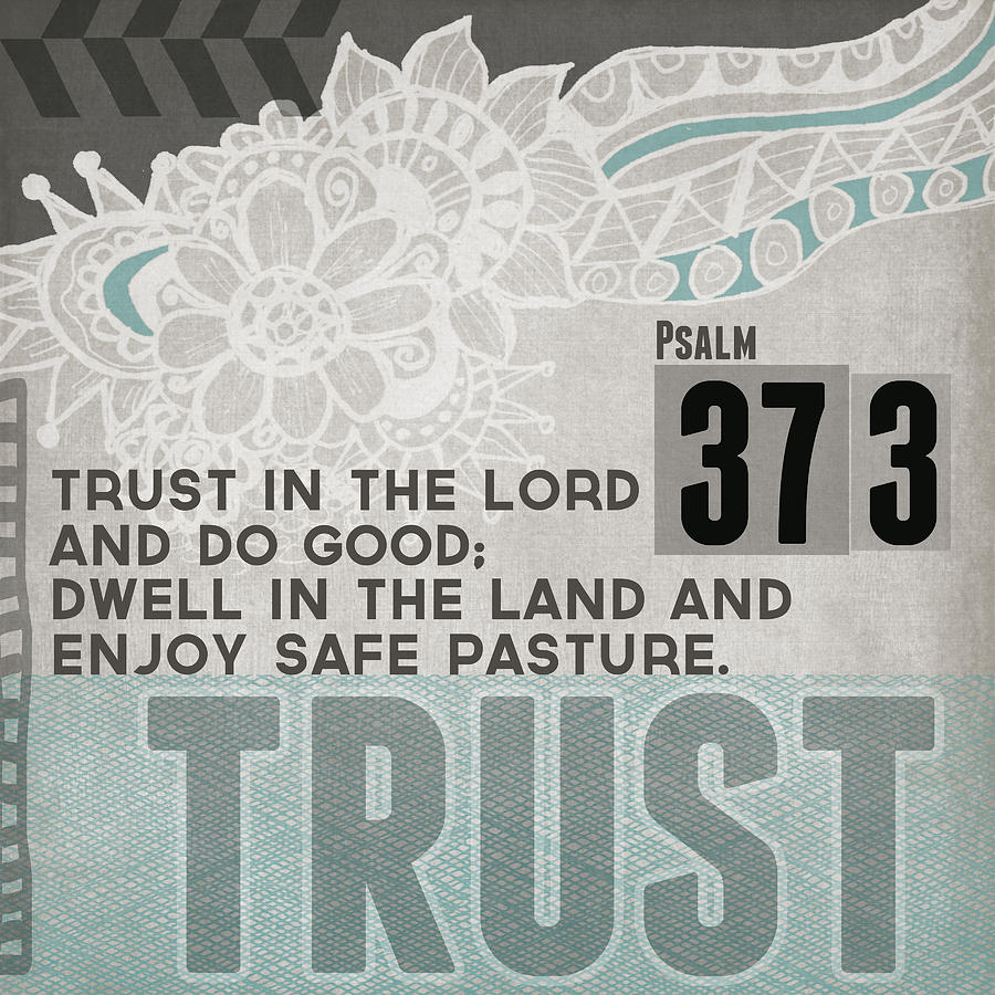 Trust In The Lord Contemporary Christian Art Mixed Media