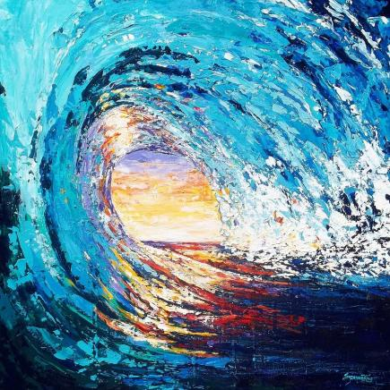 Wave of Light Painting by Suzanne King