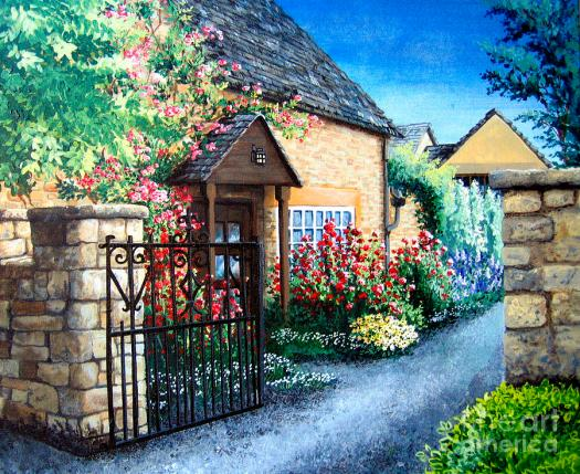 Chipping Campden Painting Welcome Home By Mary Palmer