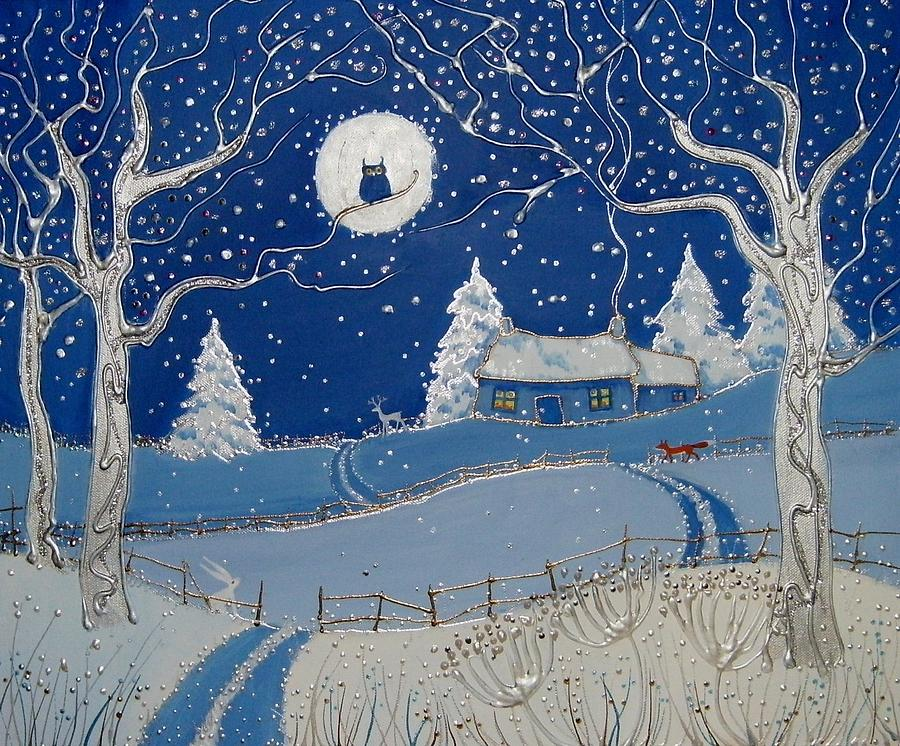 Winter Magic Painting By Angie Livingstone