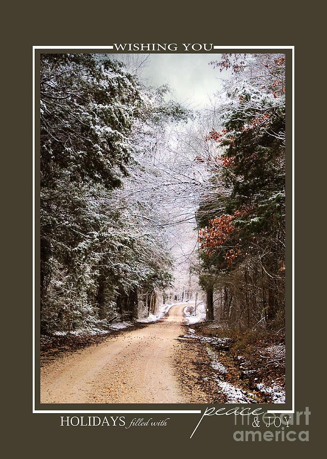 Winter Paradise Scenic Landscape Christmas Cards