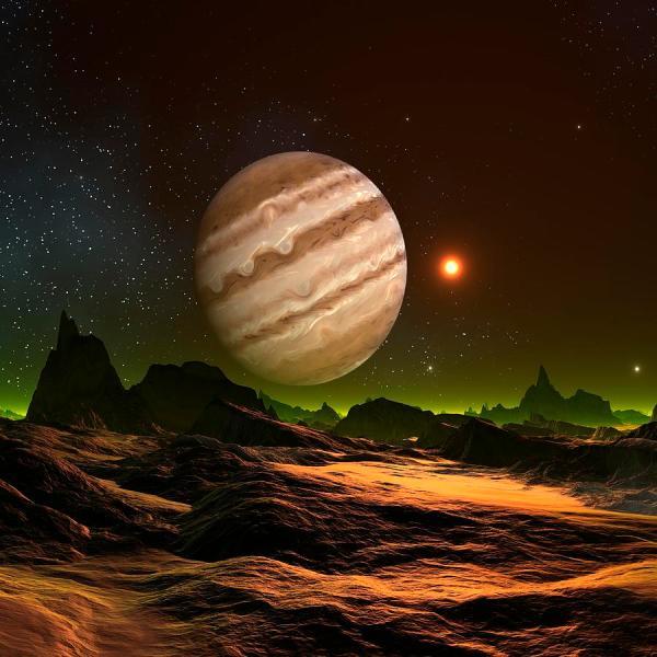 Alien Planet Artwork Digital Art by Mehau Kulyk