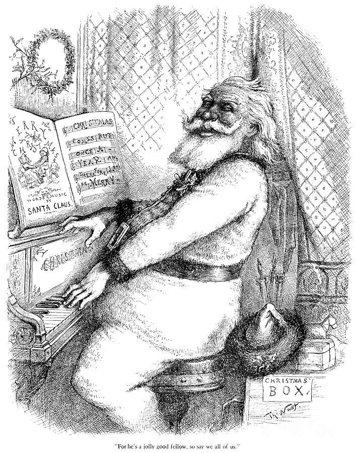 THOMAS NAST FIRST SANTA 1863