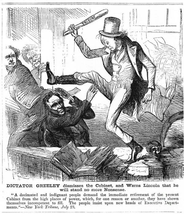 Civil War Cartoon, 1861 Photograph by Granger