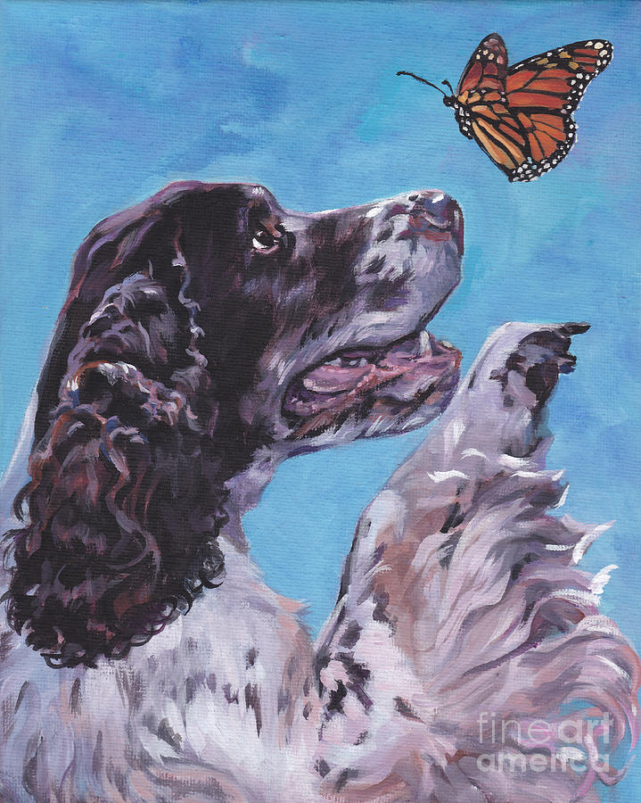English Springer Spaniel Painting By Lee Ann Shepard