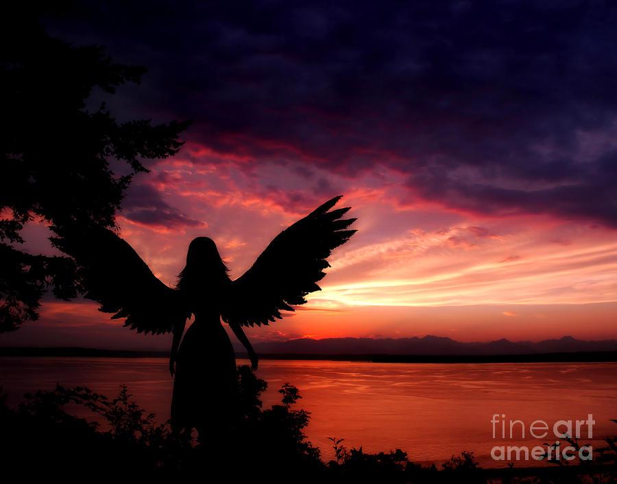 Angelic Digital Art By Julie Fain
