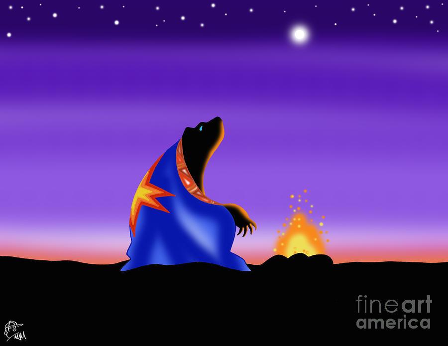 Bears Fire Digital Art By MJ Marin