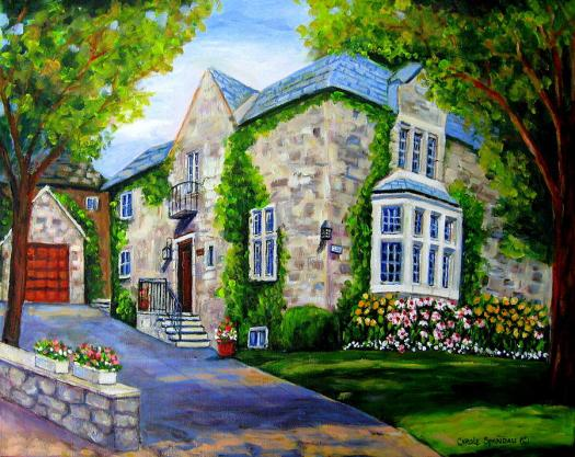 Montreal Painting Beautiful Westmount Home By Carole Spandau
