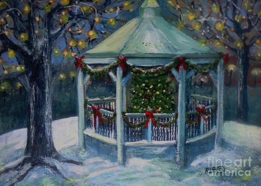 Christmas Gazebo Painting By Rita Brown