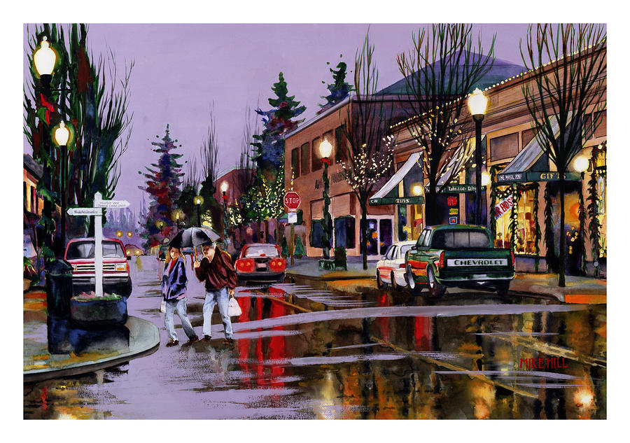 Christmas On Main Street By Mike Hill