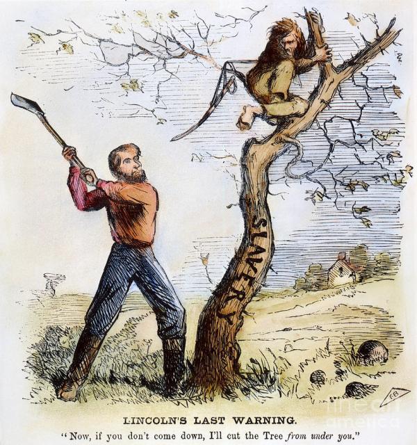 Civil War Cartoon, 1862 Photograph by Granger