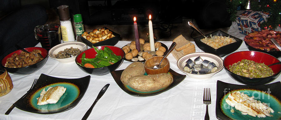 For Two Traditional Lithuanian Christmas Eve Dinner