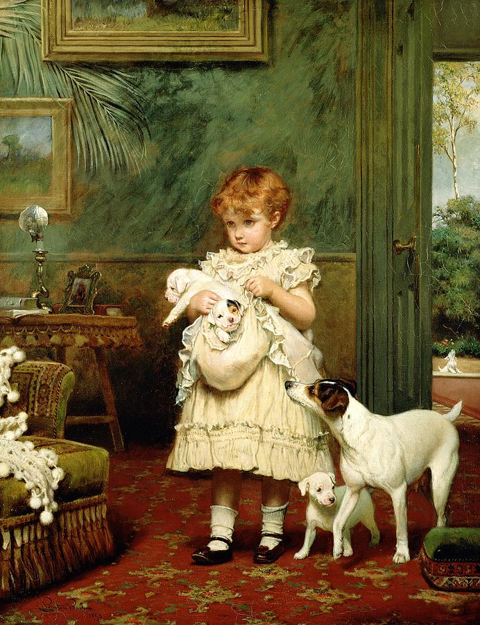 Image Result For Oil Painting Girl With Dog
