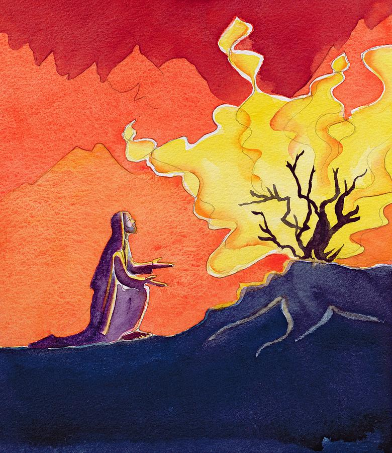 Image result for moses and the burning bush