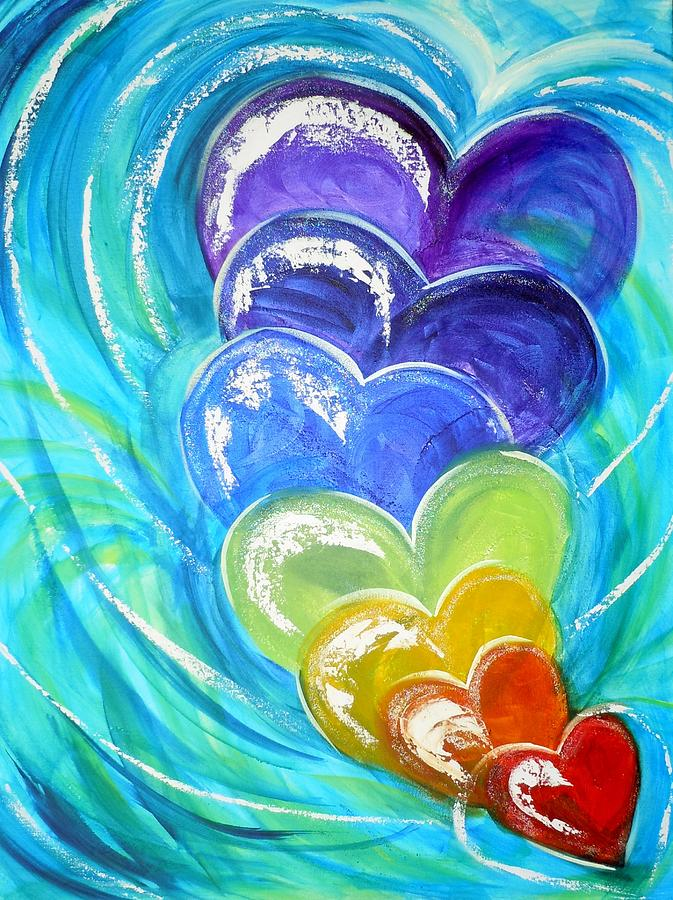 Gods Pure Love Painting By Deborah Brown Maher