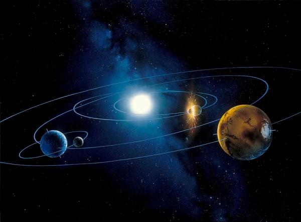 Inner Solar System Planets Artwork Photograph by Detlev