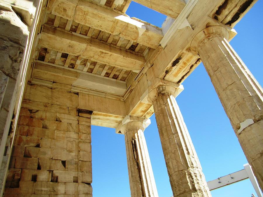 Interior Architecture Of Acropolis Parthenon Tall Columns And High     Athens Photograph   Interior Architecture Of Acropolis Parthenon Tall  Columns And High Ceiling In Athens Greece