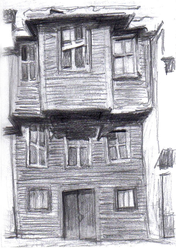 Old Wooden House Drawing By Di Fernandes