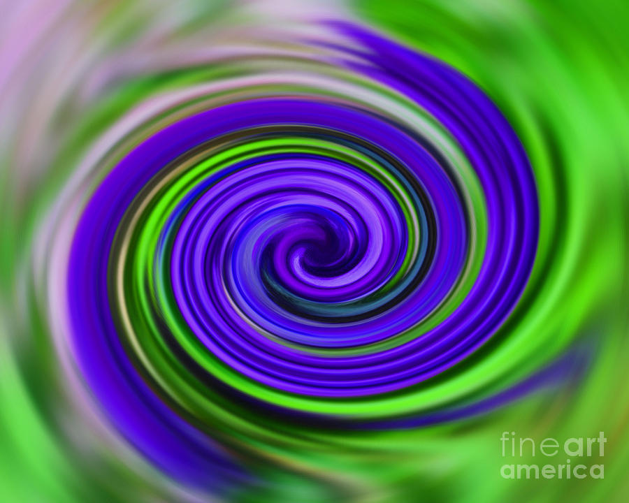 Purple And Green Swirls Digital Art By Smilin Eyes Treasures