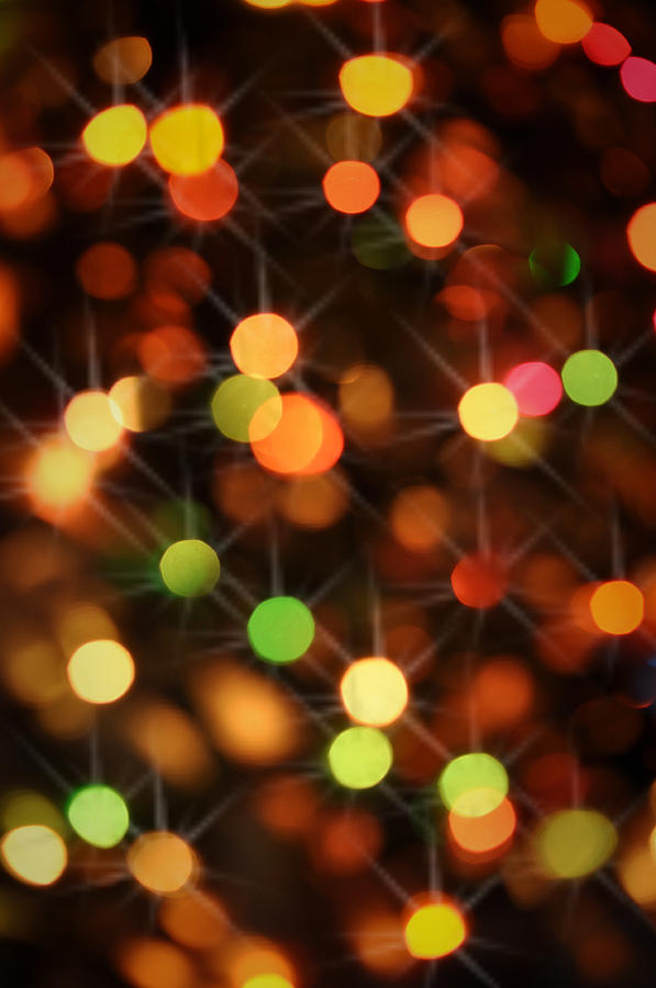 Red Christmas Lights With Sparkles Photograph By Brandon