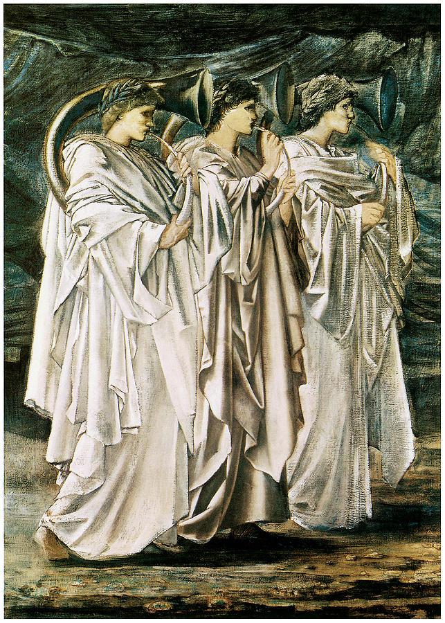 The Challenge In The Desert Painting By Edward Burne Jones