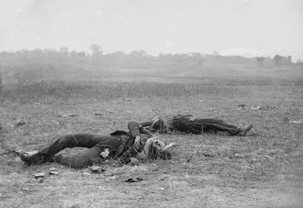 The Civil War. Dead Soldiers Photograph by Everett