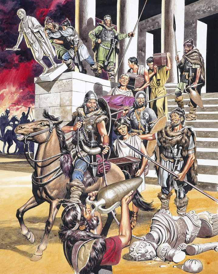 Ron Embleton 'The Fall of the Roman Empire in the West'