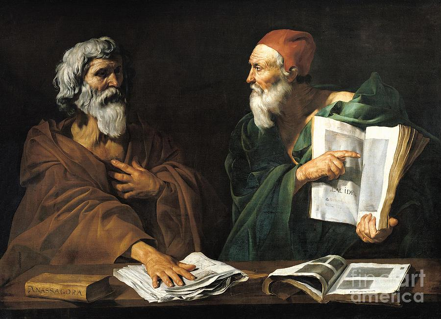 The Philosophers Painting by Master of the Judgment of Solomon