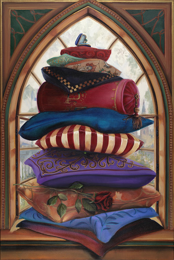The Princess And The Pea Painting By Louise Montillio