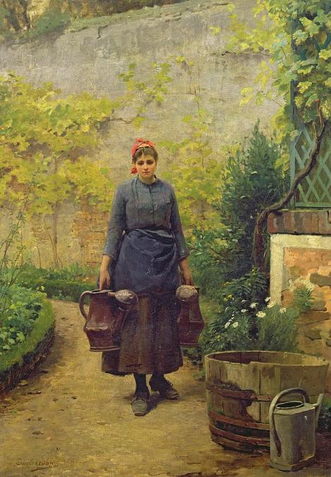 Image result for images of women in france with watering cans