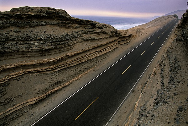 The Pan American Highway Running by Melissa Farlow