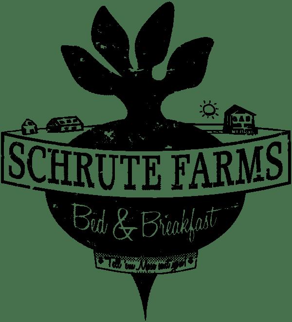 schrute farm shower curtain