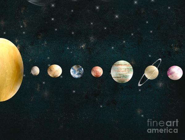 The Solar System Painting by Bri Buckley