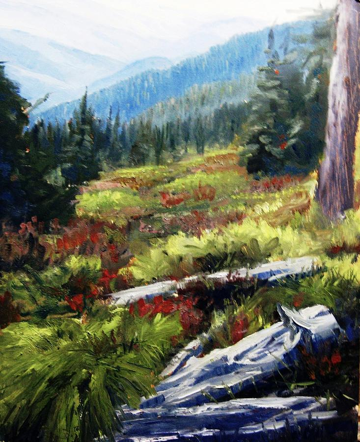 Superb Cabinet Mountains North Idaho Painting By Tom Siebert