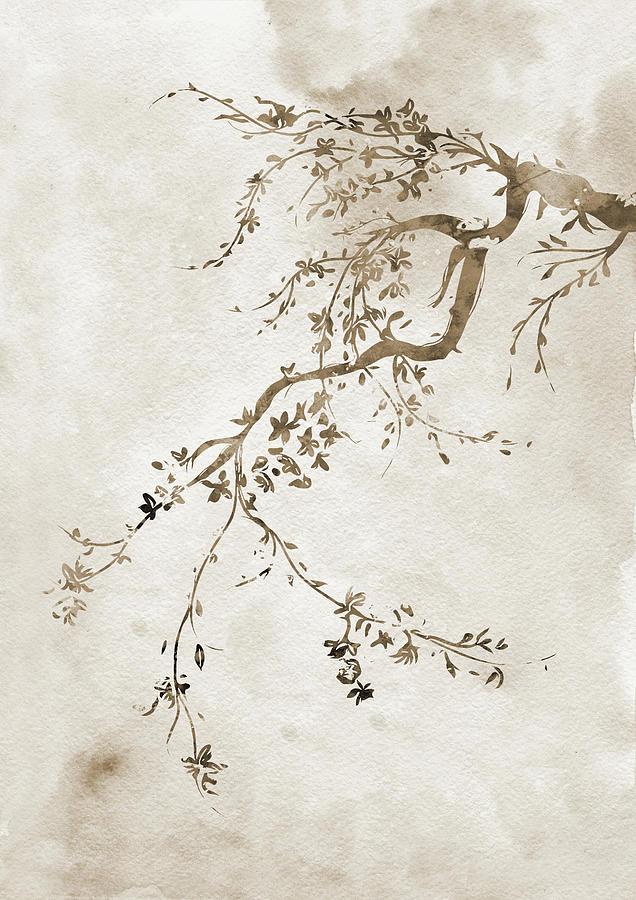 japanese cherry blossom tree by erzebet s