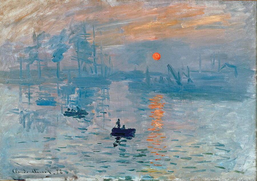 Impression Sunrise Painting by Claude Monet