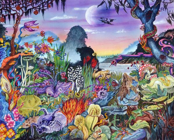 Alien Landscape Painting by Liz Baker