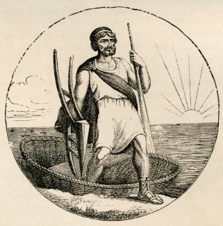 Image result for ancient coracle craft drawing