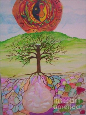 As Above So Below Painting by Sacred Muse