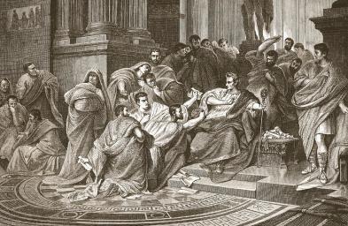 Assassination of Julius Caesar Drawing by English School