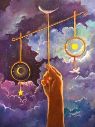 Balance of God El Equilibrio de Dios Painting by Randy Burns