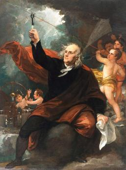 Benjamin Franklin Drawing Electricity from the Sky by Benjamin ...