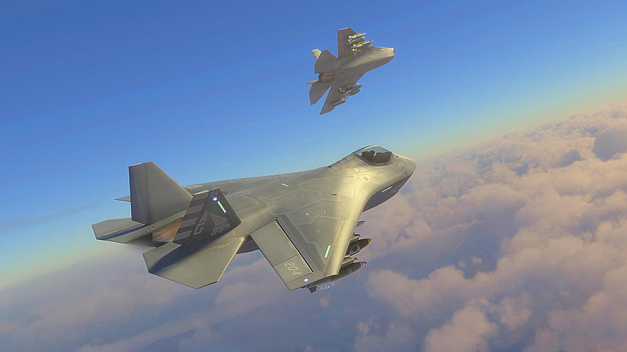F 32 Joint Strike Fighter Production Model  3 Digital Art by Hangar     Boeing Digital Art   F 32 Joint Strike Fighter Production Model  3 by Hangar