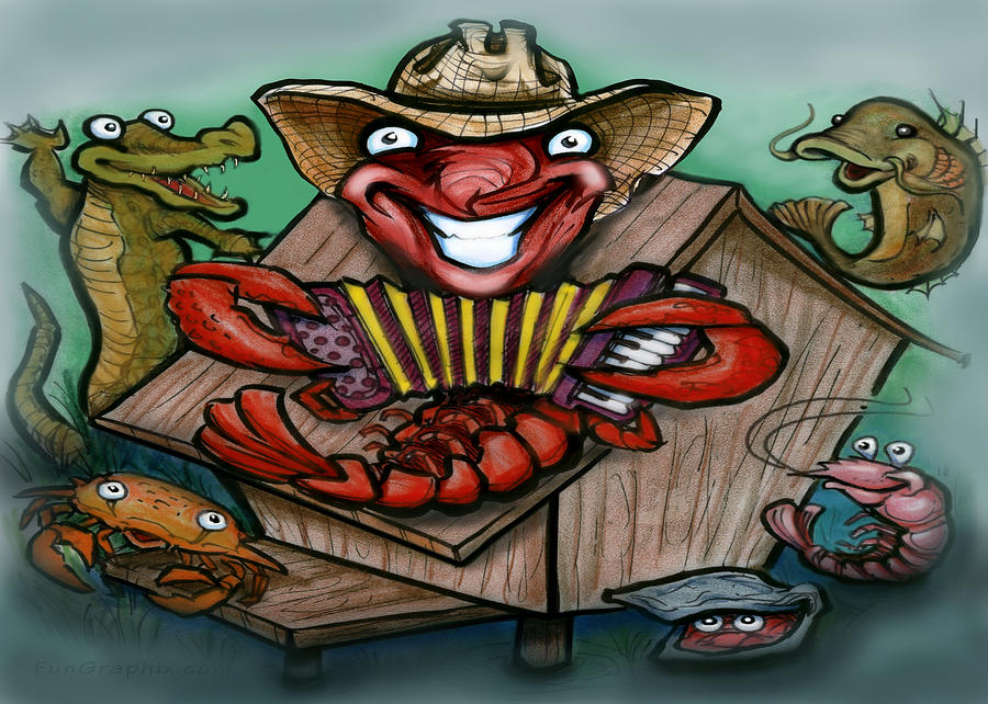 Cajun Critters Greeting Card By Kevin Middleton