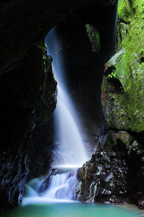 Canaries Waterfall In Color St Lucia Photograph By Chester Williams